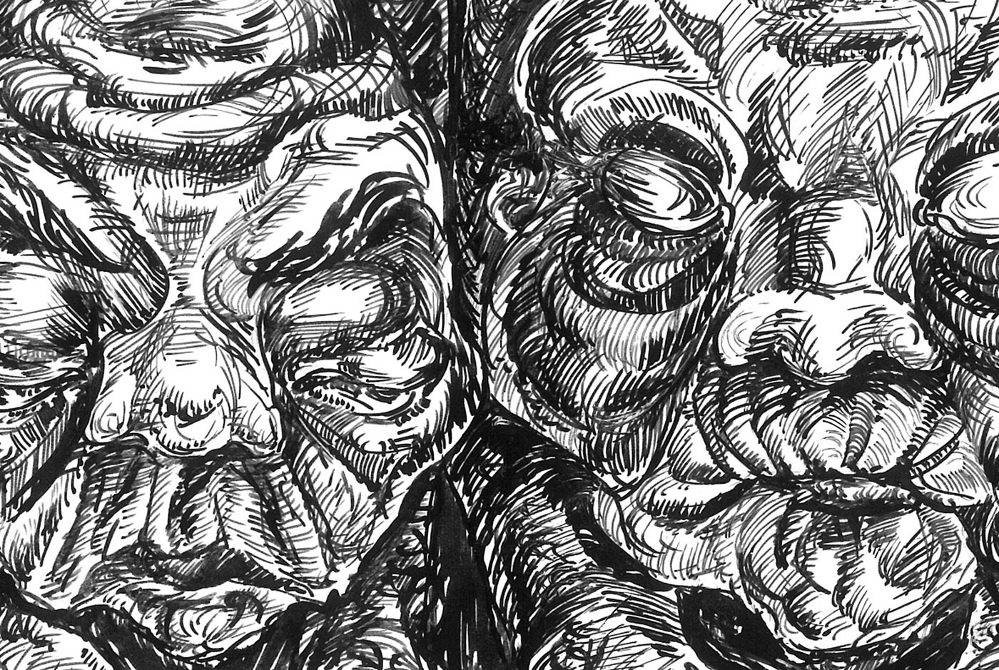 ink artwork invasion Emotional psychology philosophy  grotesque surrealism ILLUSTRATION  The Highest Сaste