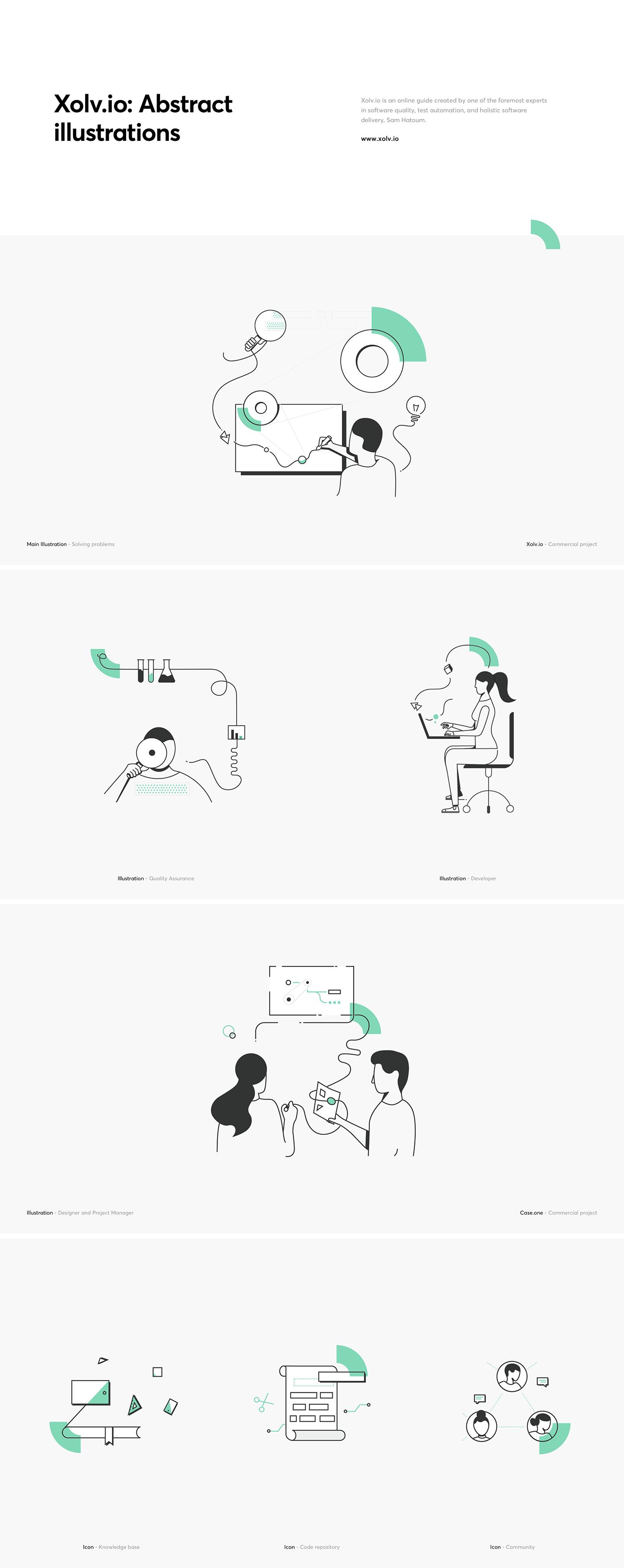 ILLUSTRATION  product sketch images Case Study illustrations set application Web mobile