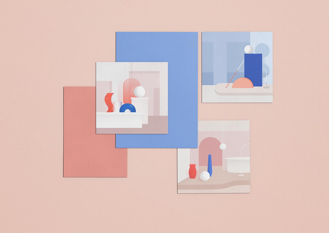ILLUSTRATION  graphic Collection graphic design  color Space  objet sketch Interior design poster