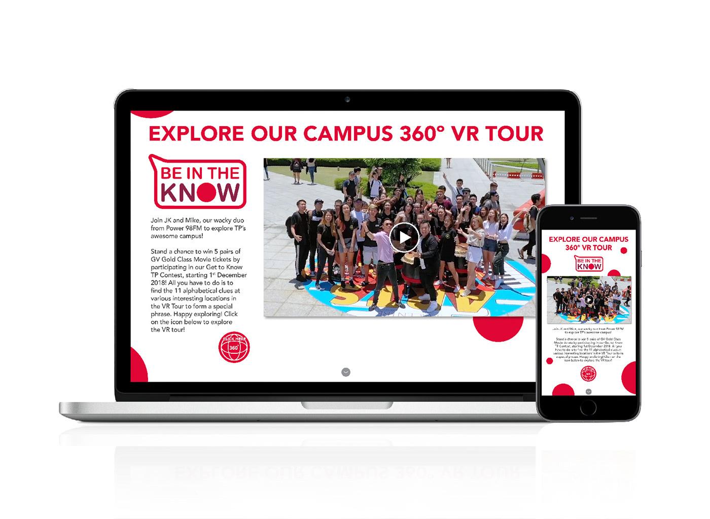 Education school Polytechnic Socialmedia microsite CreativeDirection beintheknow reachhigher campaign Students