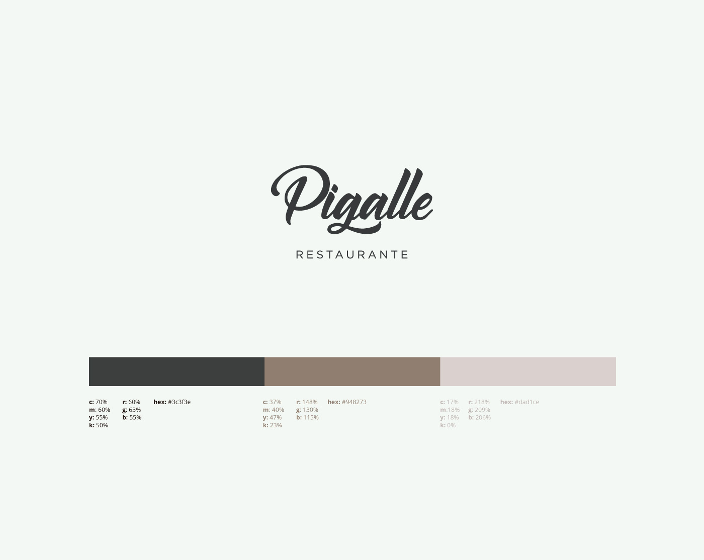 identity restaurant menu logo graphic design