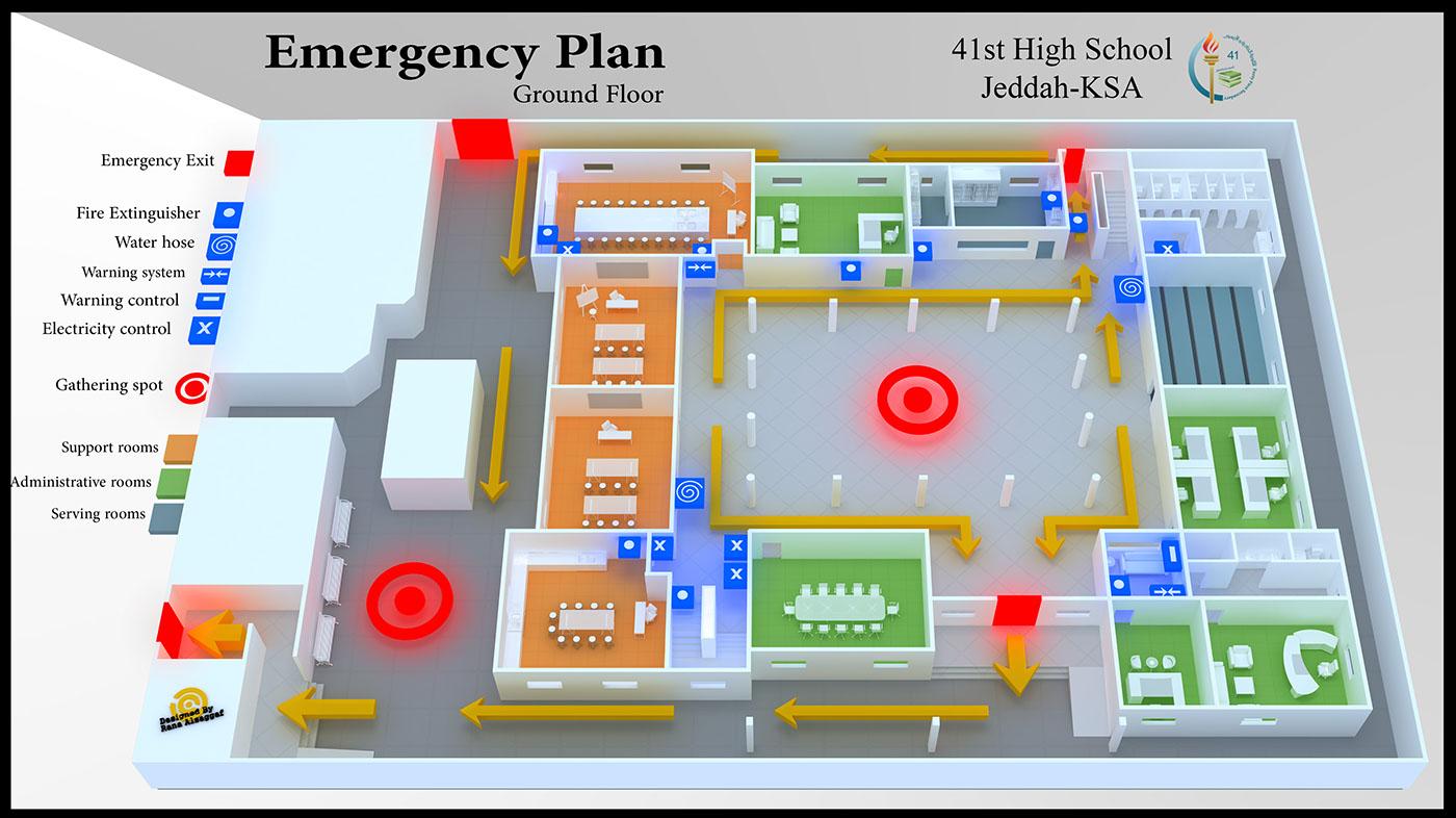 Emergency school plan on behance for School project plan