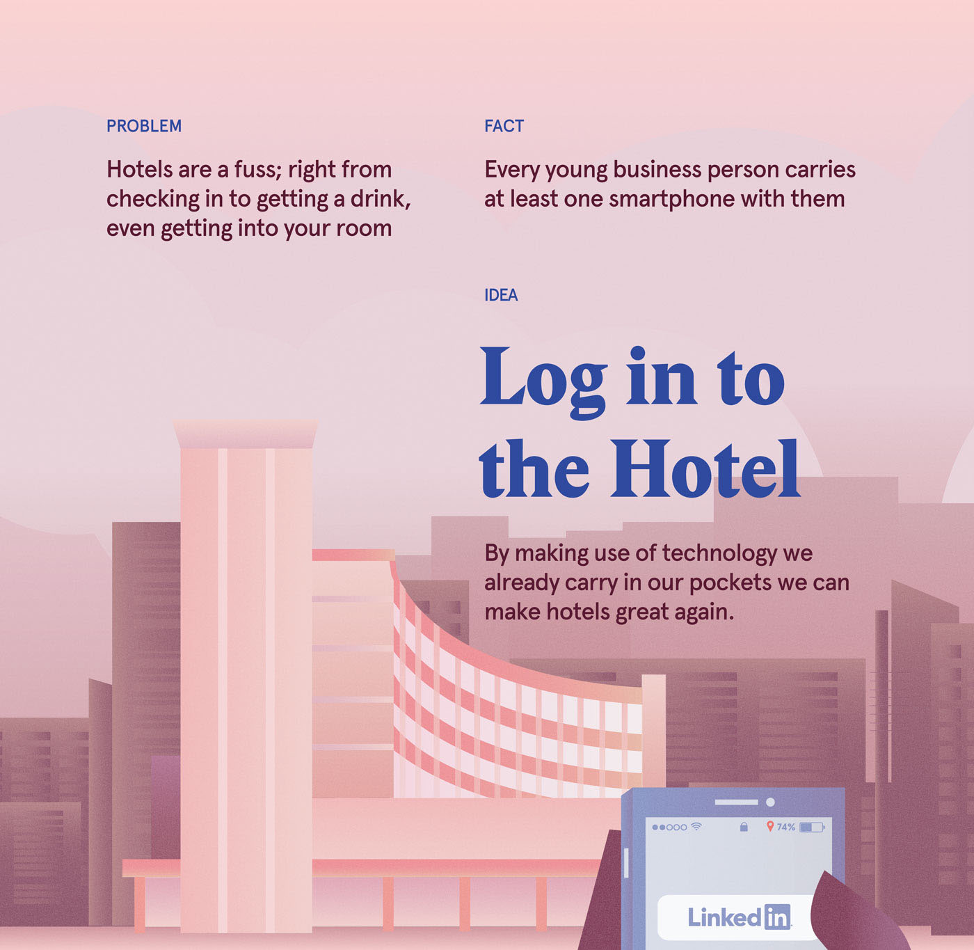 Rebrand hotel paper design branding  Service design ux art direction  student adobeawards