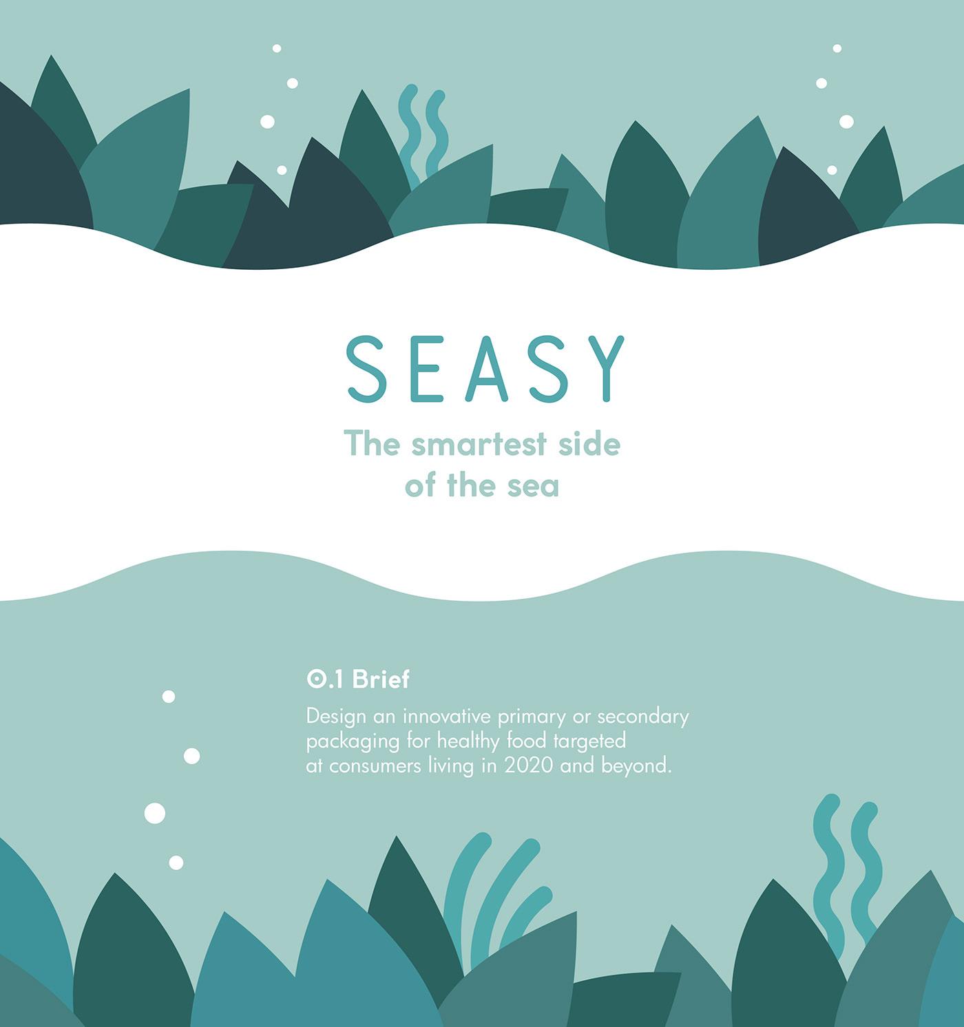 Packaging seaweed Food  cinema4d healthy 3D naba EPDA Seasy branding