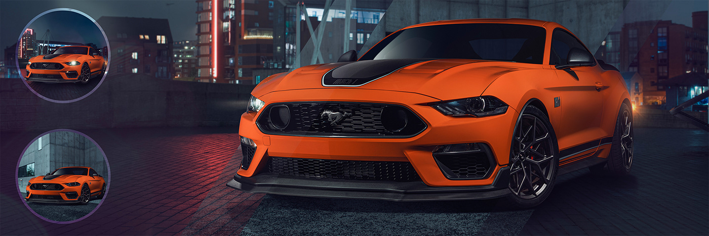Advertising  automotive   Commercial Photography Ford Mustang mach1 Photography  retouching