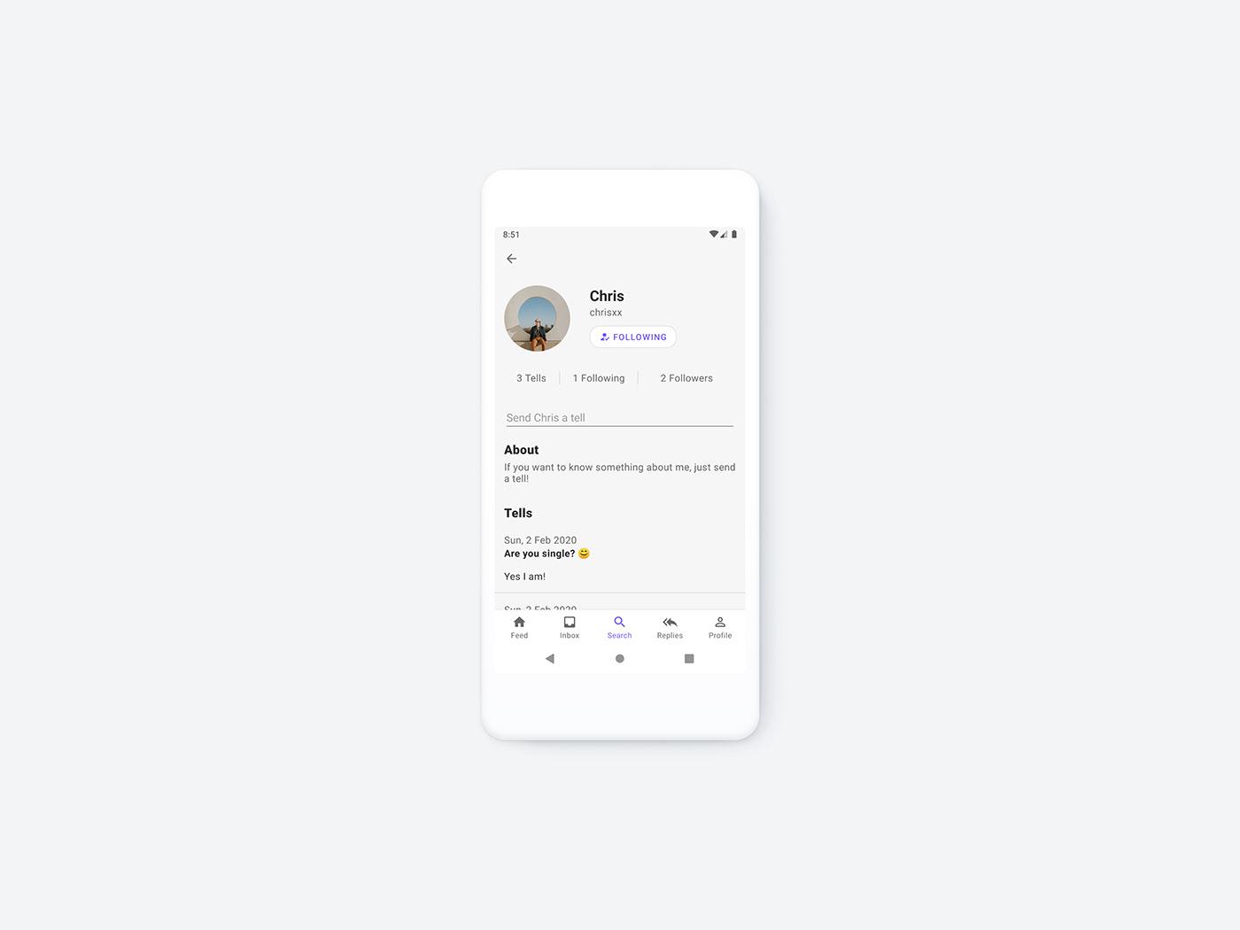 android Mobile app mobile design branding  product design  Minimalism social media app
