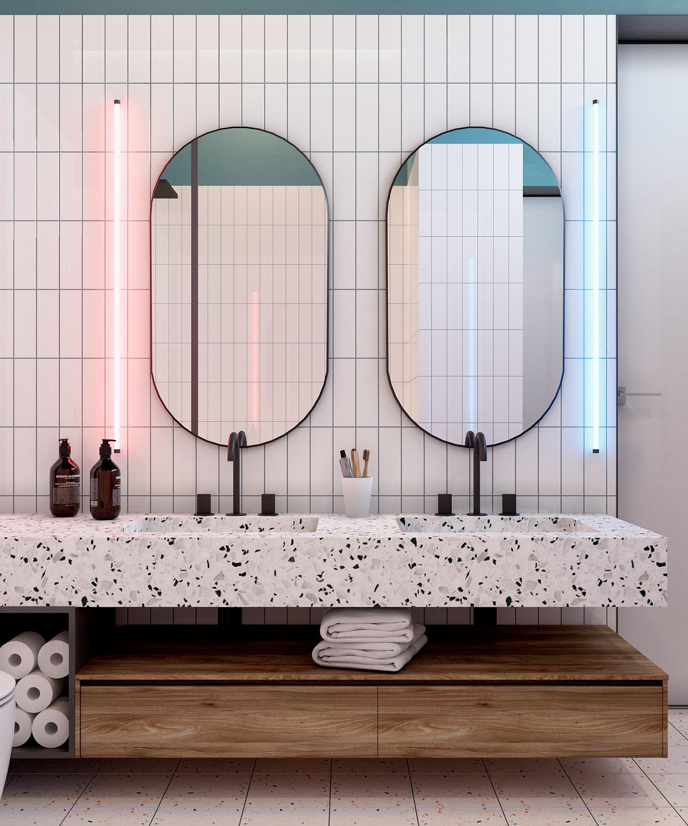有創意感的18個豪宅浴室欣賞