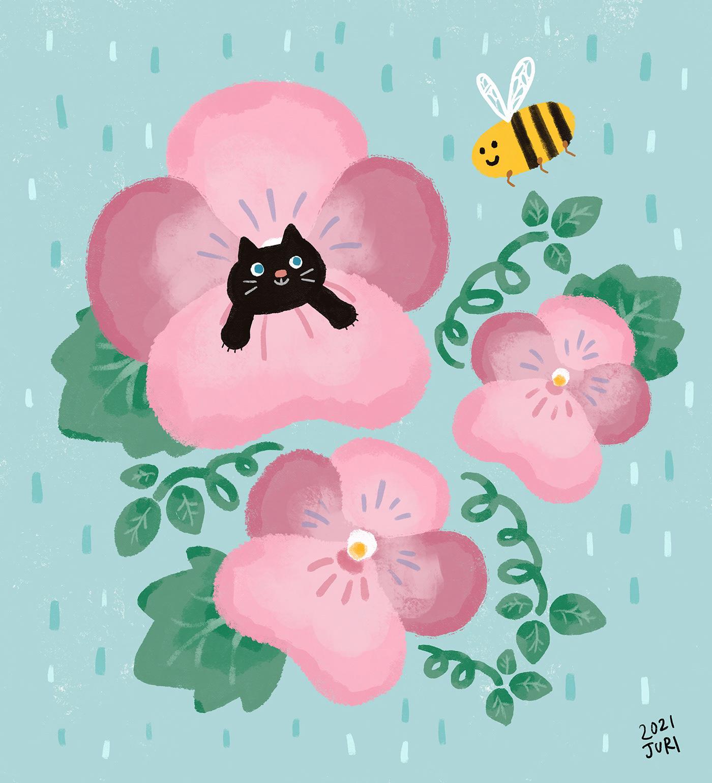 animal cute ILLUSTRATION  spring