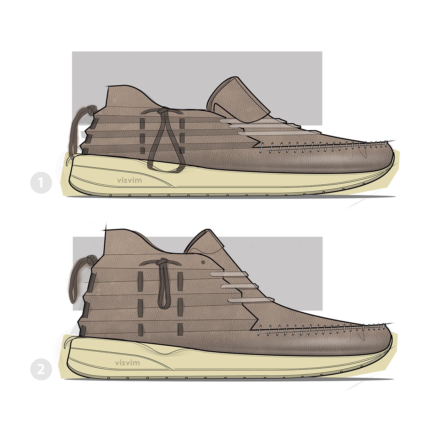 footwear design shoe design footwear sneaker boot adidas Nike Y3 reebok sketch