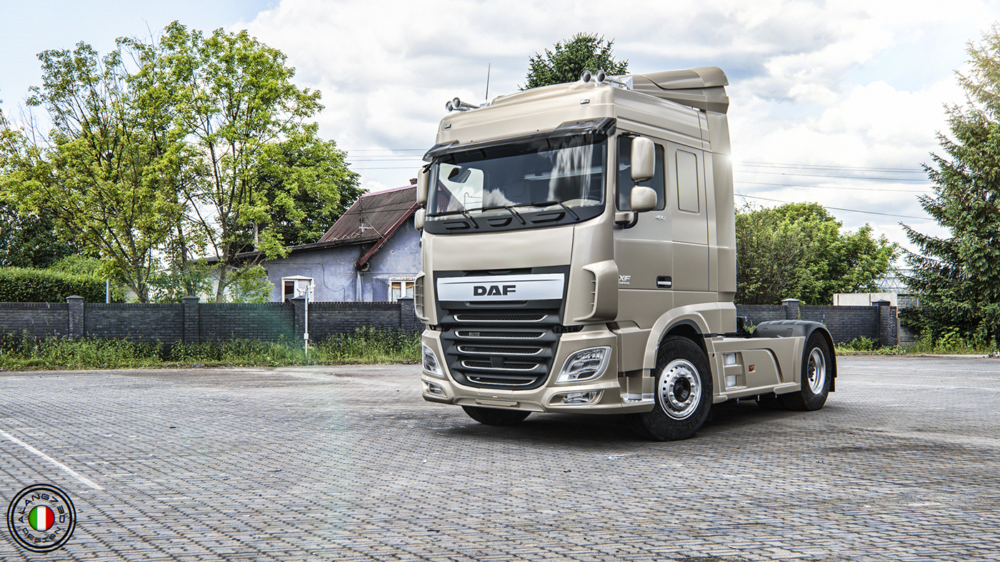 DAF XF SC (Space Cab) Euro 6 on Behance