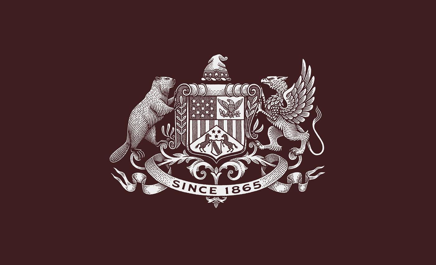 branding  crest engraving heraldic heraldry logo mark pen and ink scratchboard seal