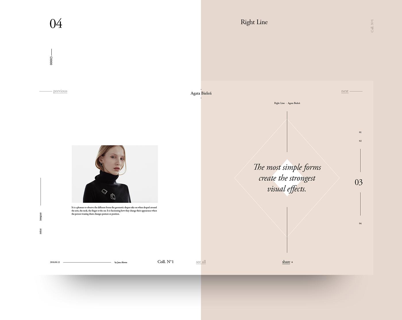 Fashion  Fibonacci freebie template grid Golden Ratio typography   Layout UI free