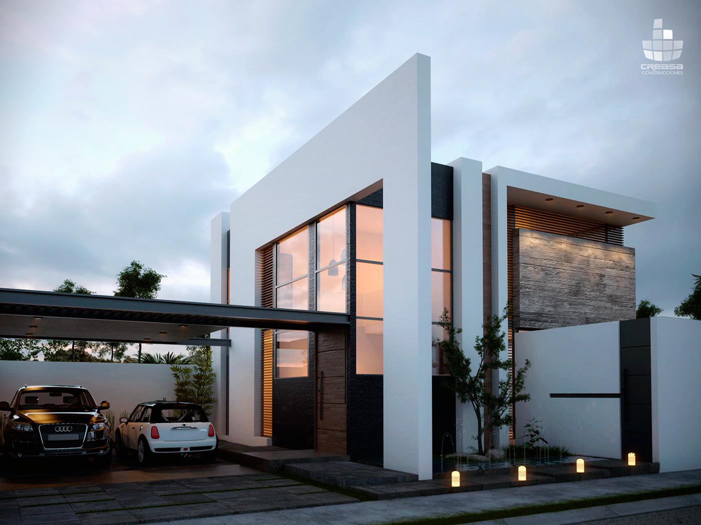 Preza on behance for Pinturas de casas modernas interiores