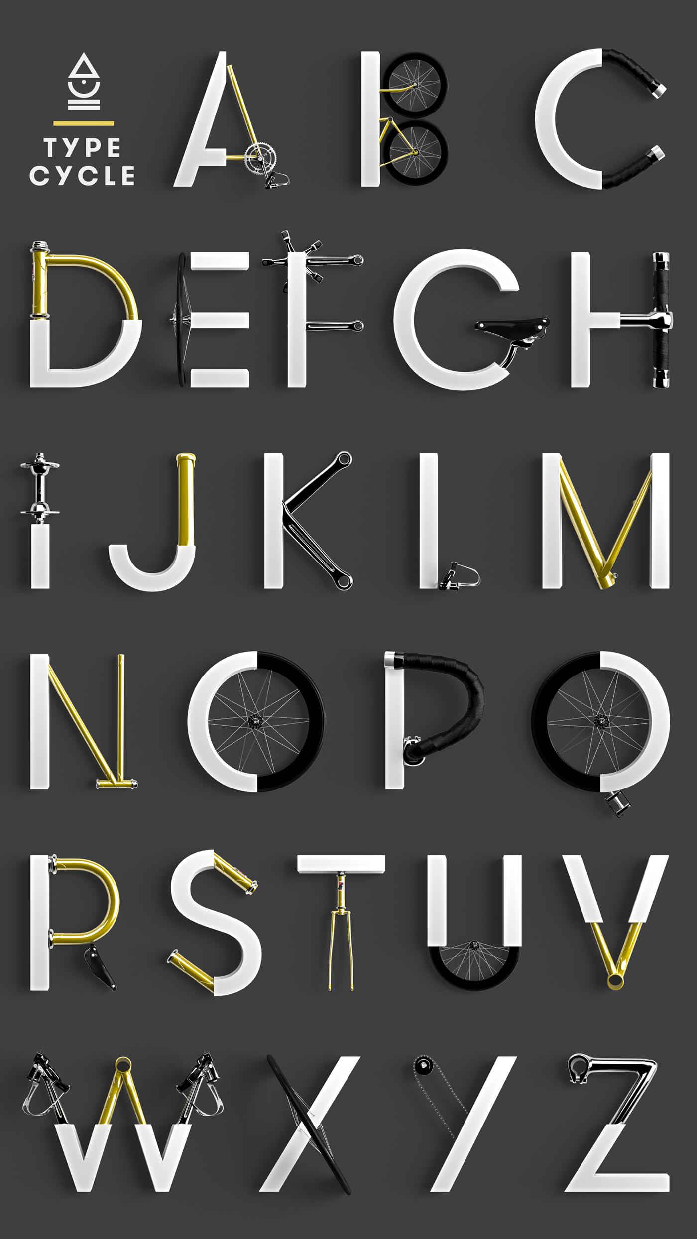3D design Typeface