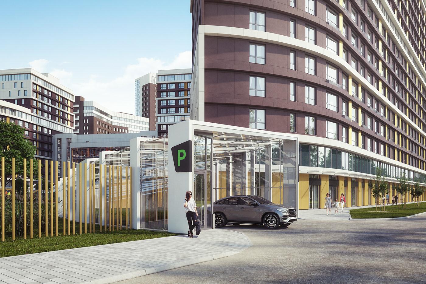 3D apartment architecture clever constructing granum modeling modelling Park visualization