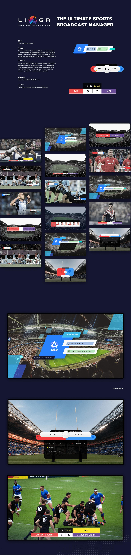 Advertising  animation  sport broadcast sports streams tv design TV Graphics UX UI
