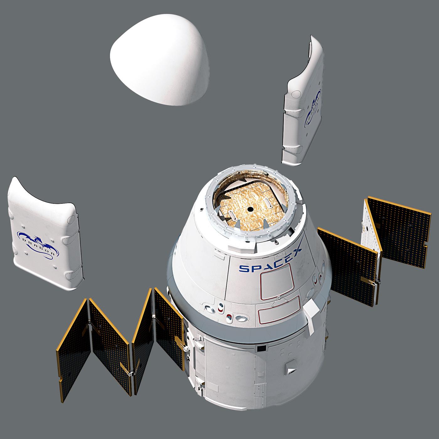 dragon spacecraft models - HD1400×1400