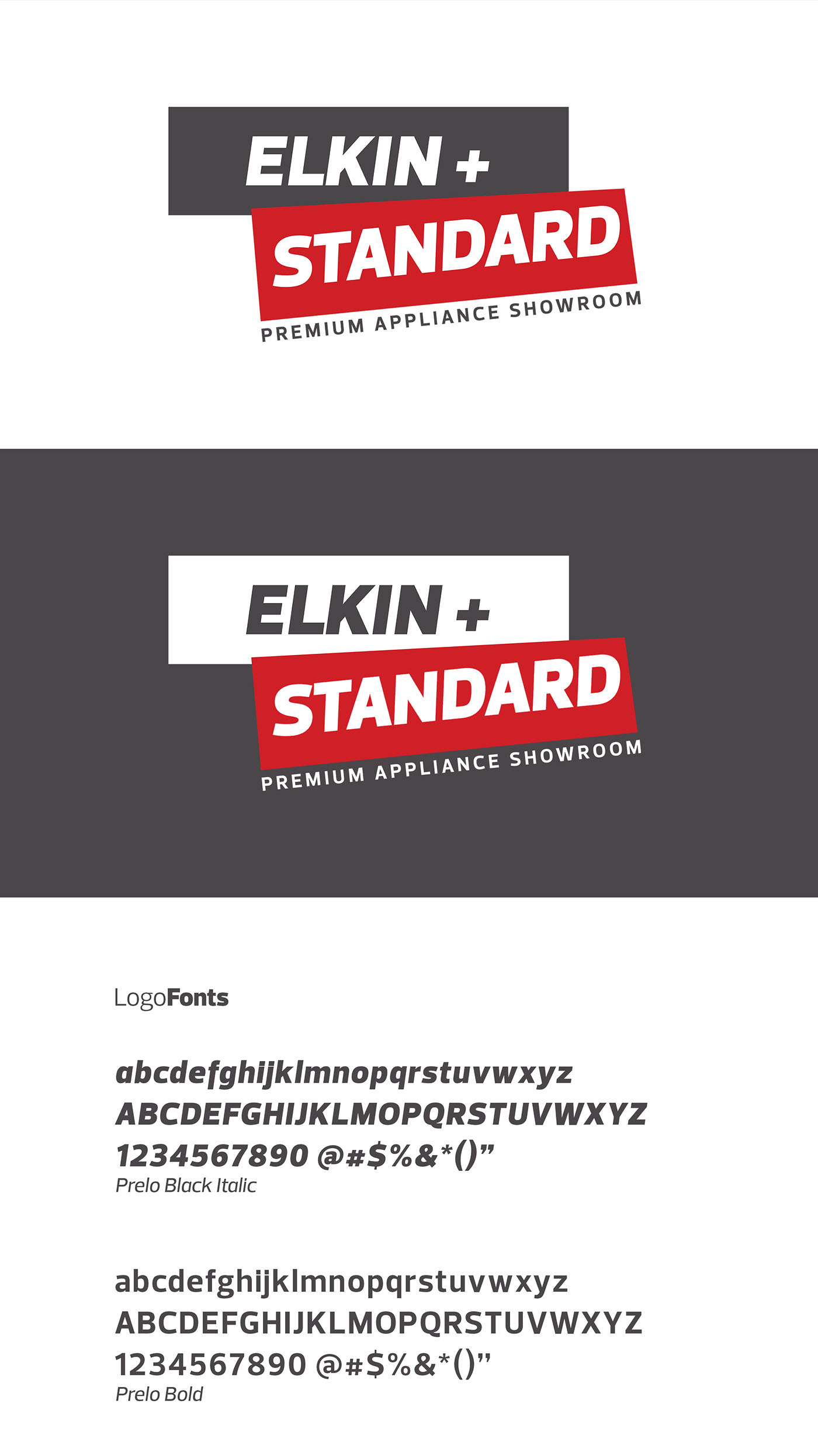 Elkin + Standard Appliance Showroom Branding on Behance