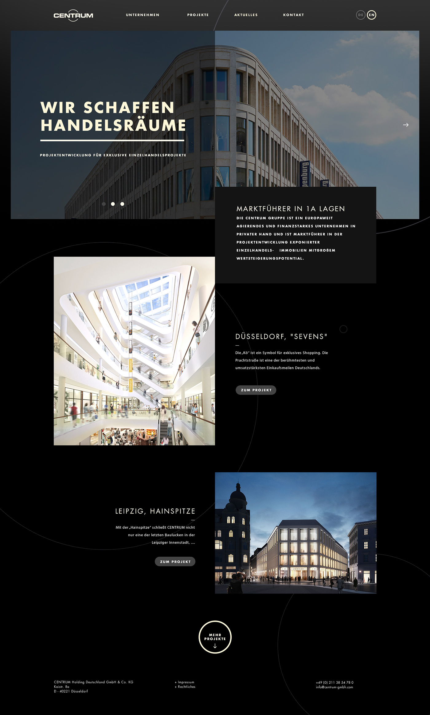 Cadman Düsseldorf centrum on behance
