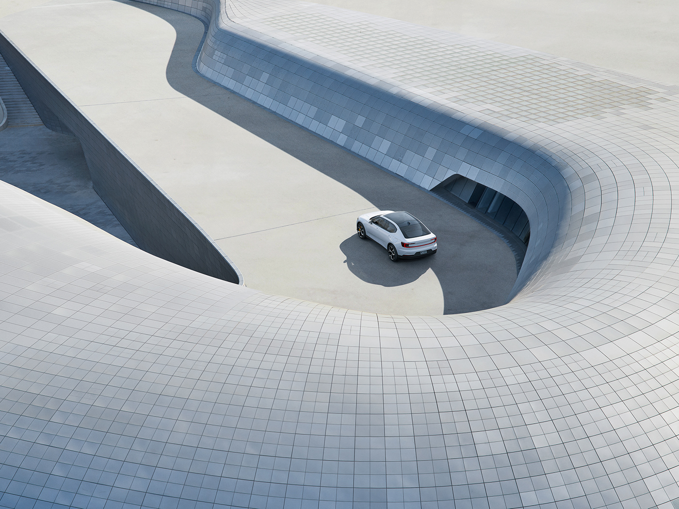 art direction  automotive   car CGI DDP electric futuristic Polestar South Korea Technology