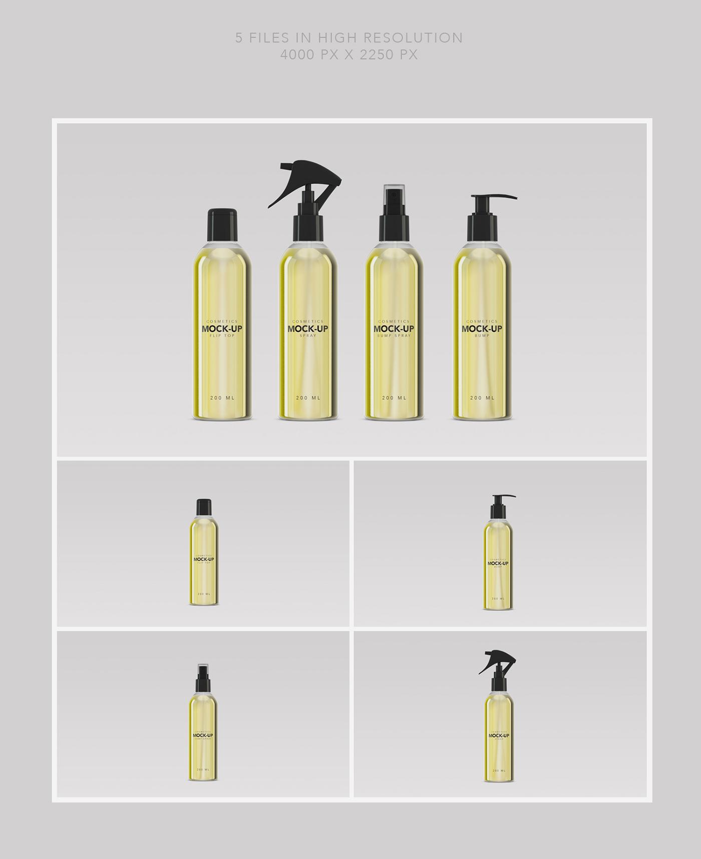 cosmetics Cosmetic cosmetics mockups beauty Mockup mock up mock-up branding mockup 200ml 330ml spray Bump bumpspray