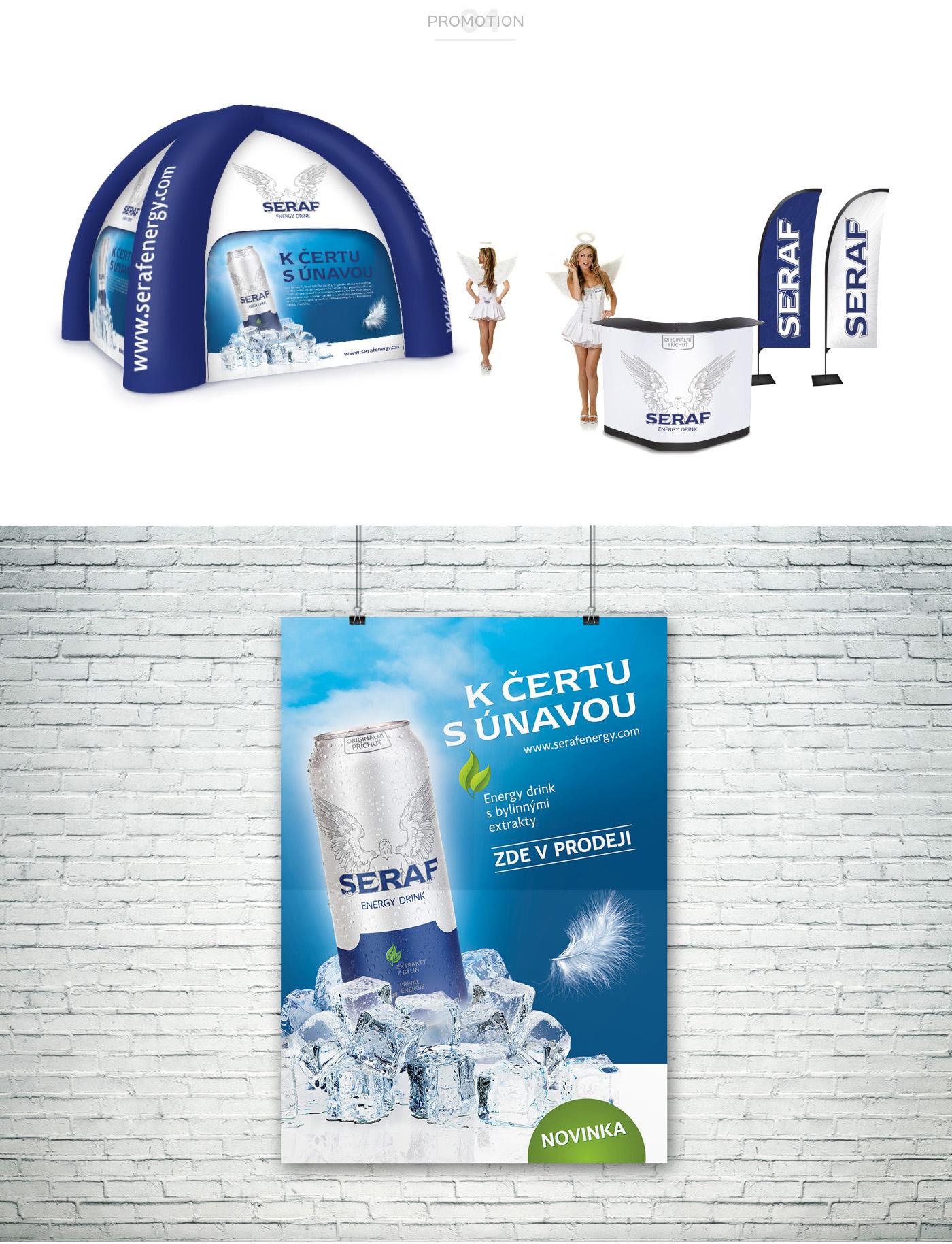 seraf energy drink can package extraordinary drink angel wings