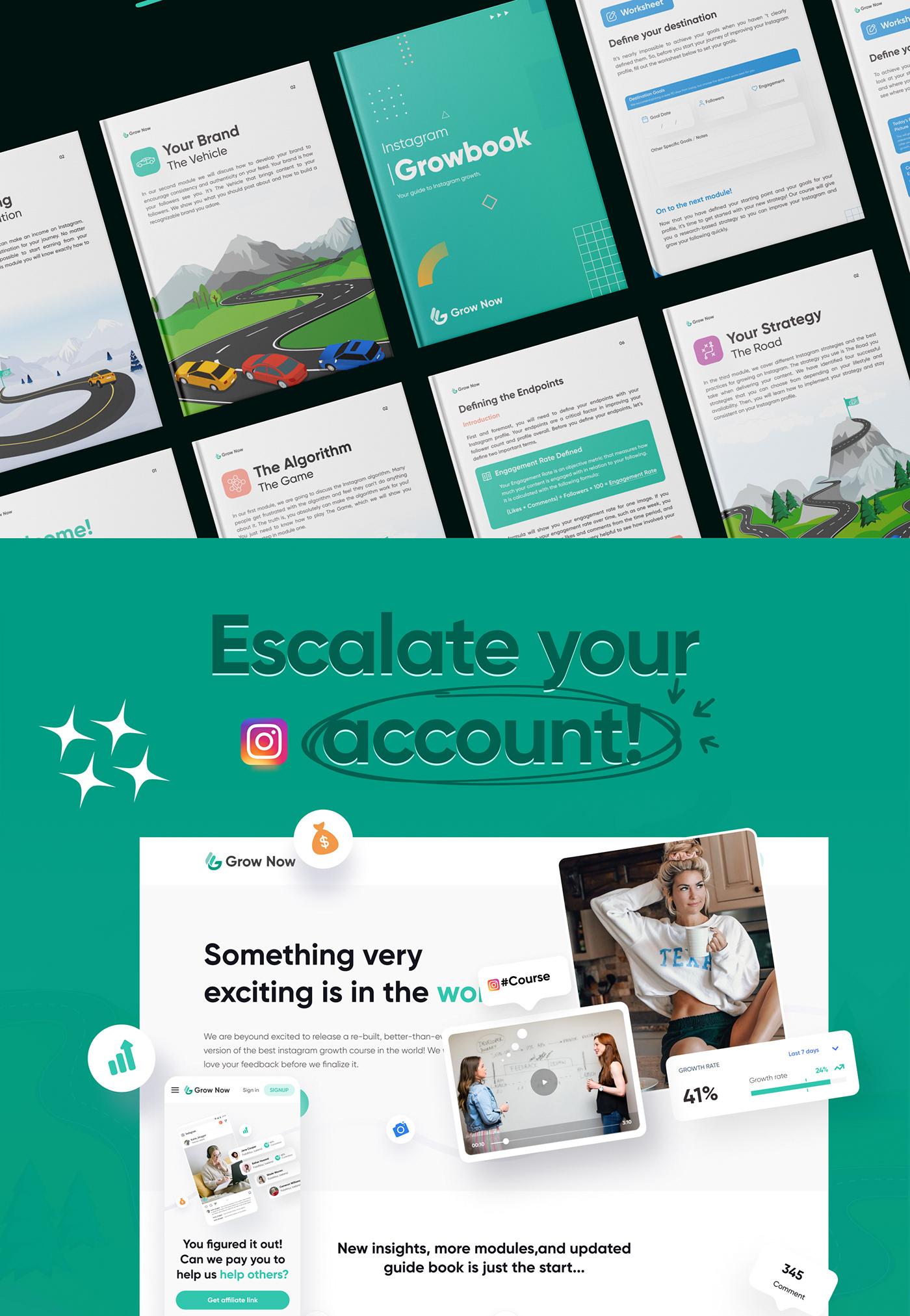 brand identity branding  Branding design grownow grownow.io instagram Instagram Post Website Website Design website development