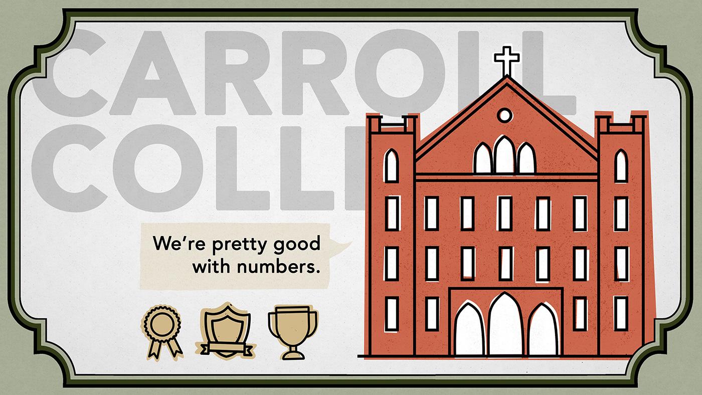 carroll college motion graphics  design noun project higher education advertisement