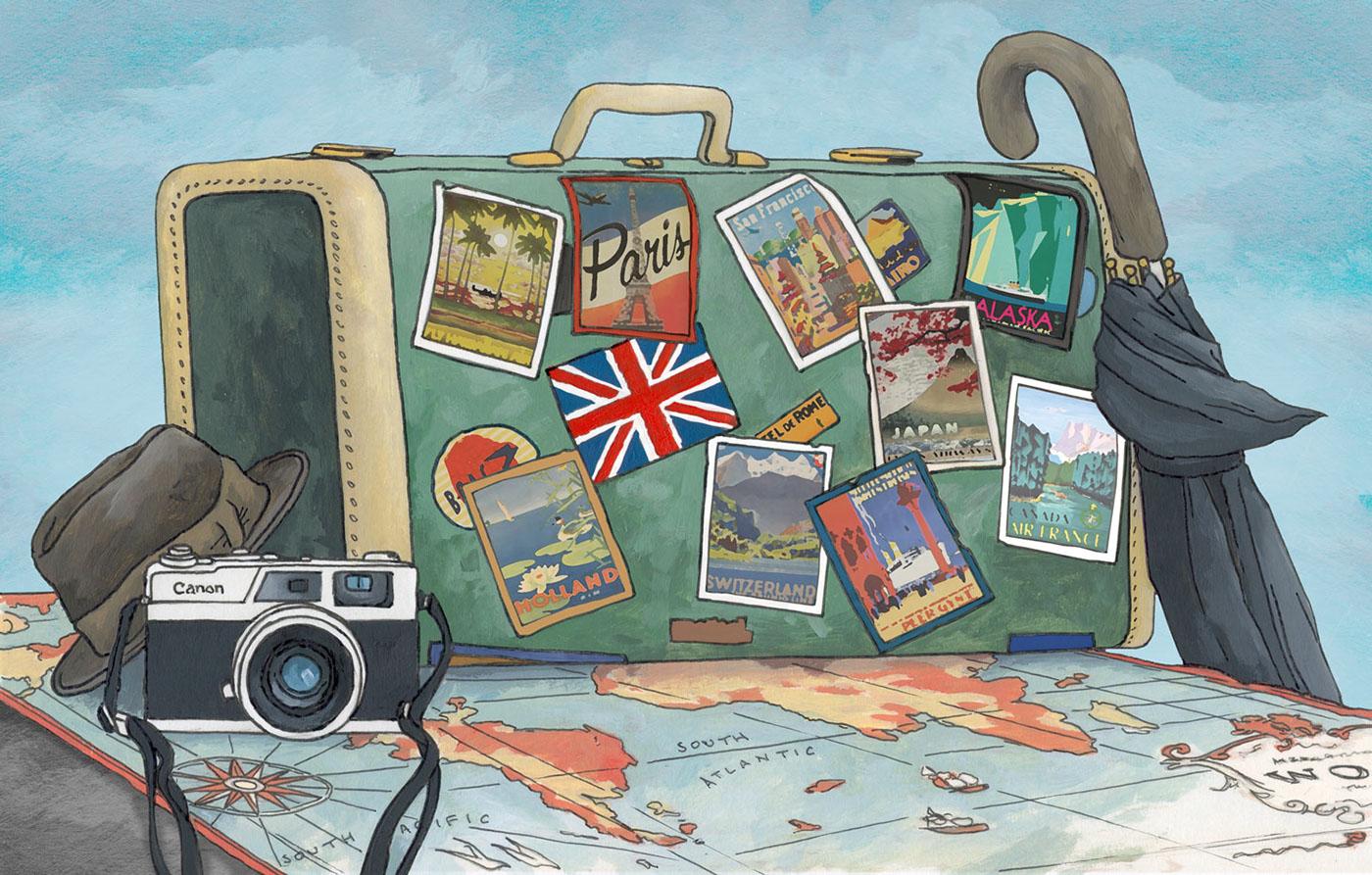 Картинки для путешествий нарисовать, своей бабушке