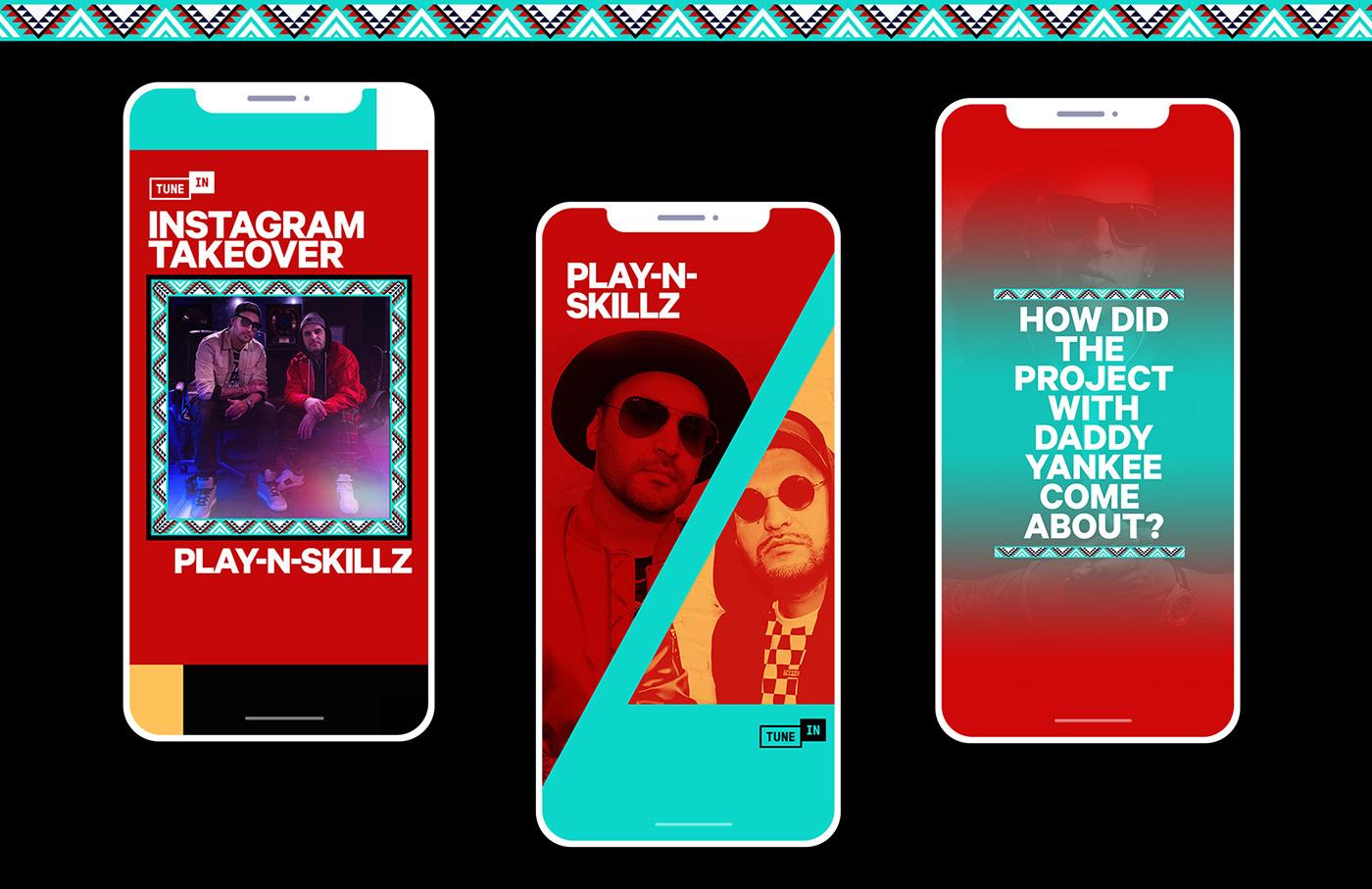 Advertising  branding  campaign graphicdesign Latin latinhits latinmusic motion music playlist