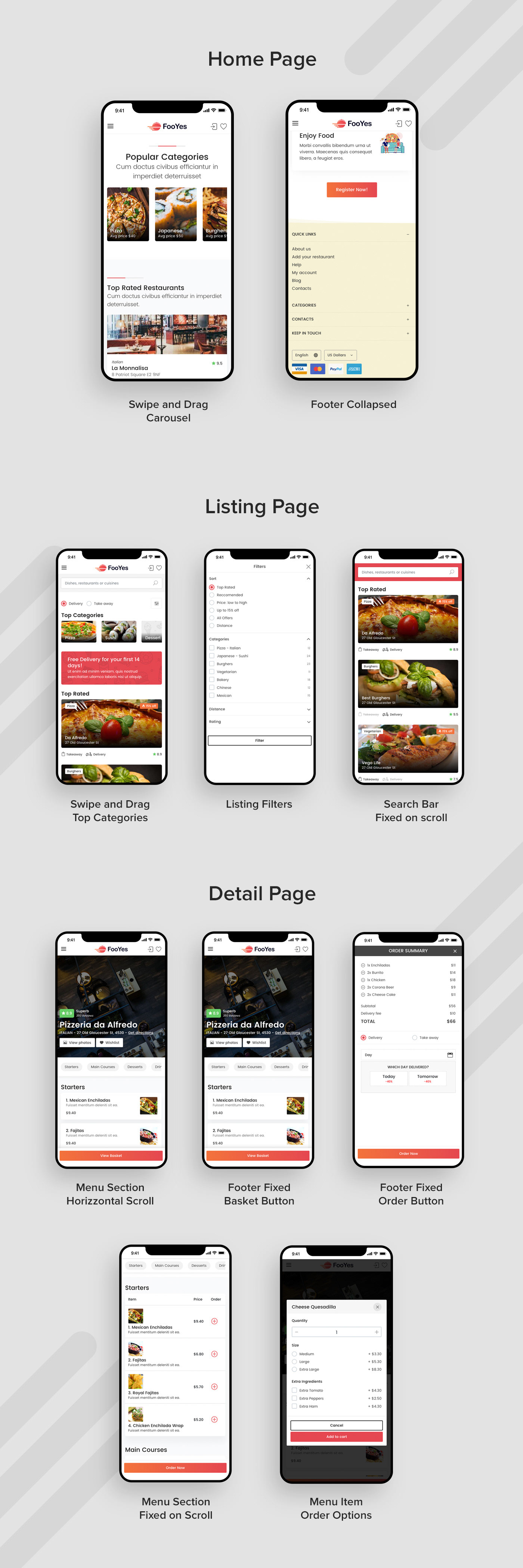 Deliveroo delivery Fast food Food  justeat Listings modern page speed Pizza restaurants