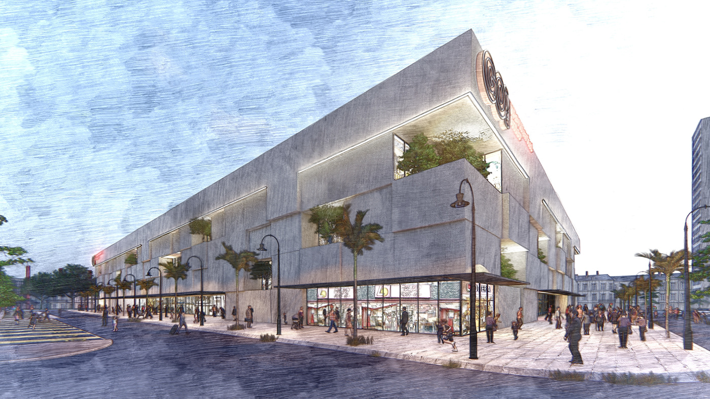 3d rendering service CG service cheap rendering CONCEPT SHOPPING MALL fast rendering low cost cg low cost rendering shopping mall shopping mall design visualization service