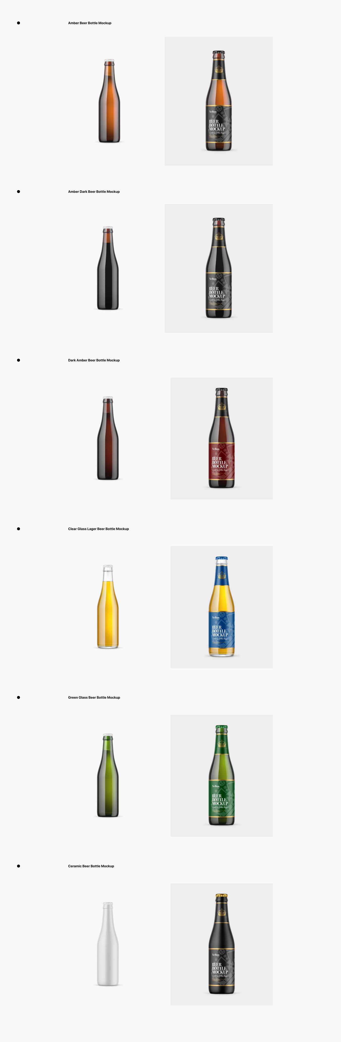 3D beer bottle beer mockup branding  design label design Mockup Pack package visualization
