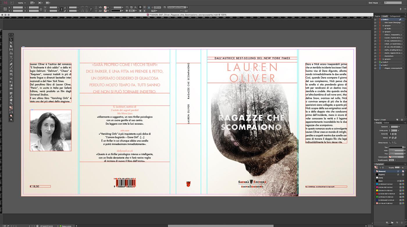 book thriller portrait woman double exposure multiple exposure safara editore lauren oliver Emi Haze emi haze art