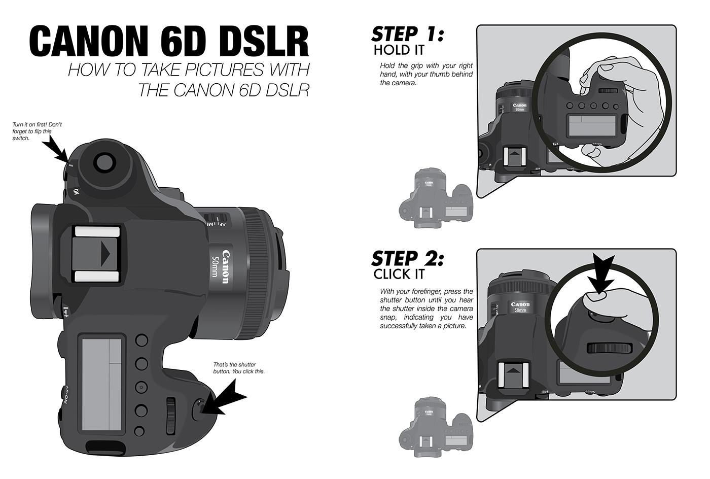 camera ilustration Illustrator monochrome how-to
