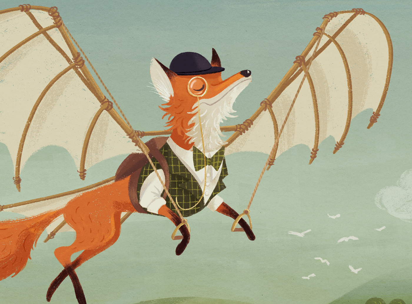 animal illustration british CDChallenge Character design  children's book cute FOX fox illustration kidlit Picture book
