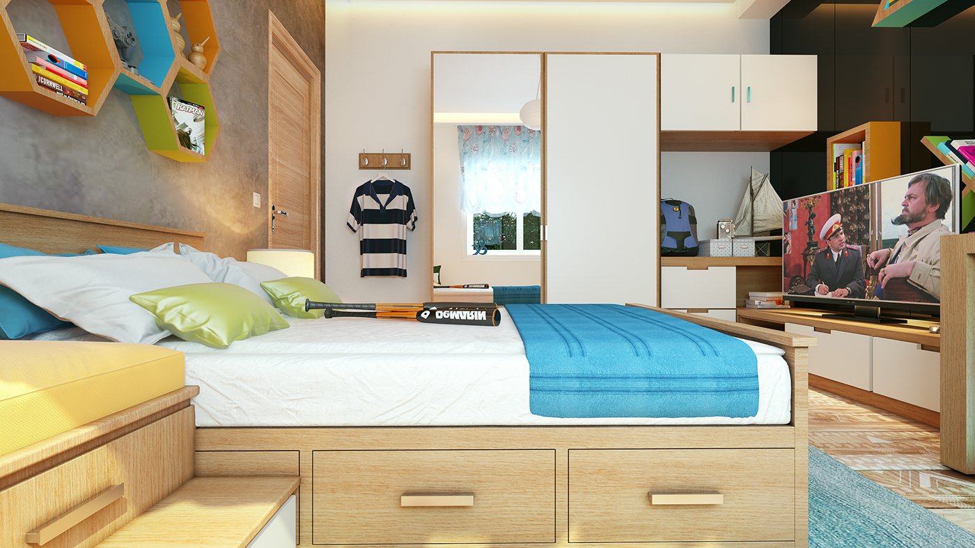 Boy Bedroom Interior Design on Behance