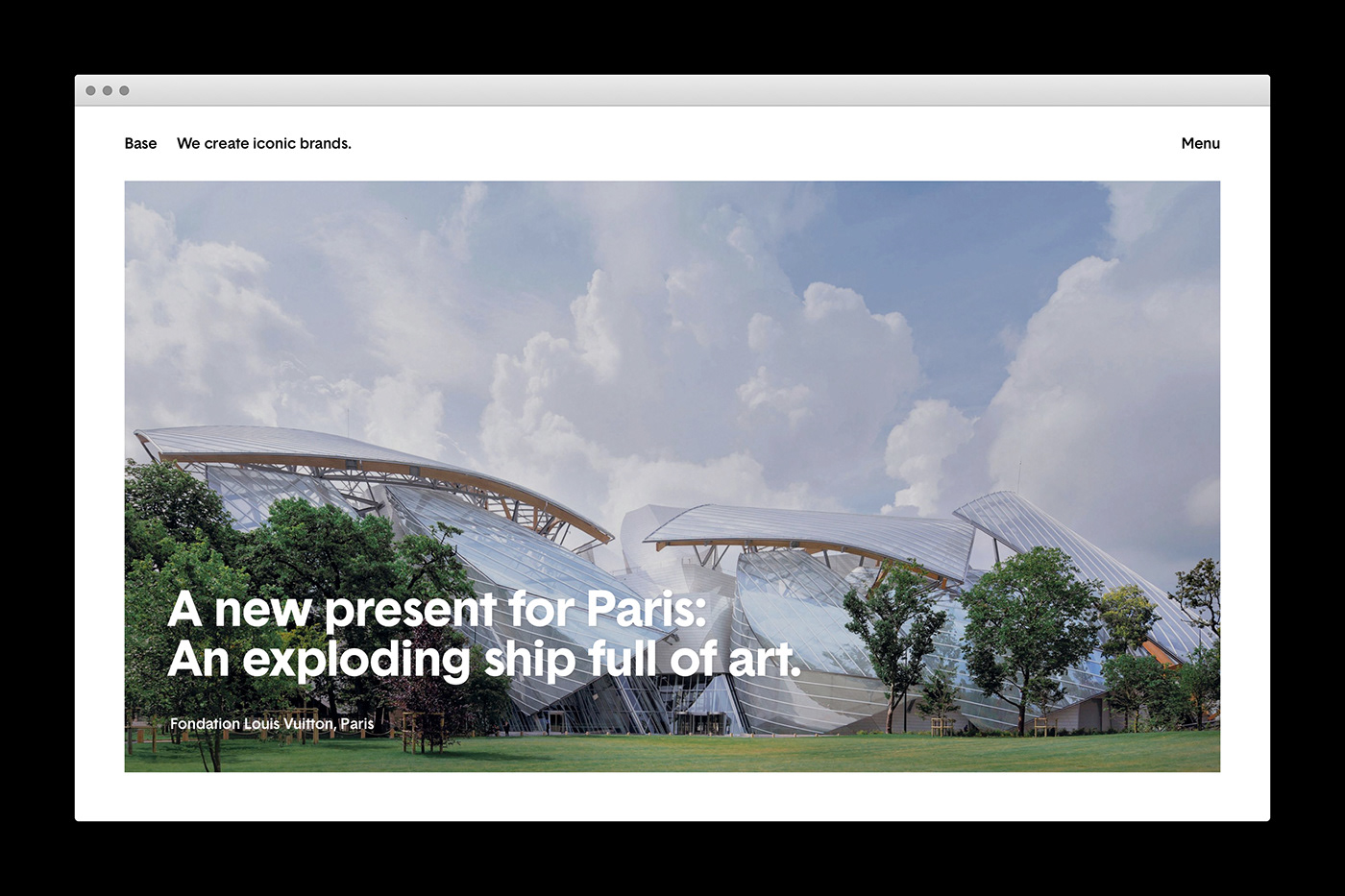 Minimalist Web Design Inspiration: Base Studios