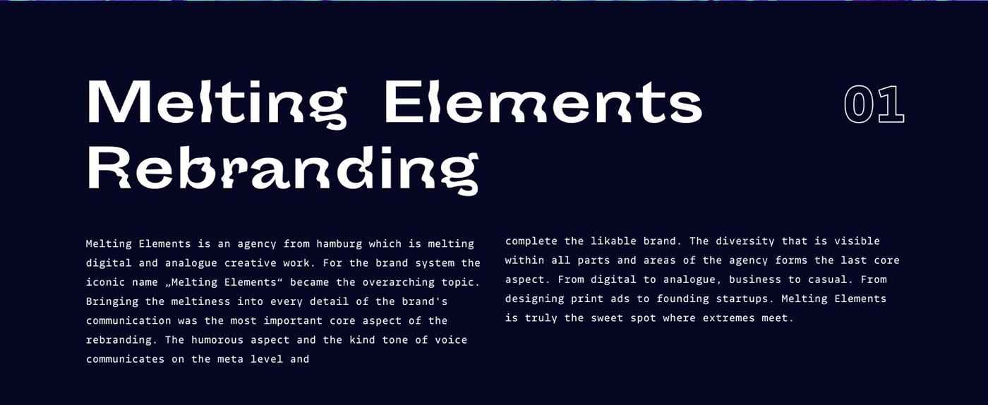 melting branding  chemical elements ux UI agency portfolio fusion math