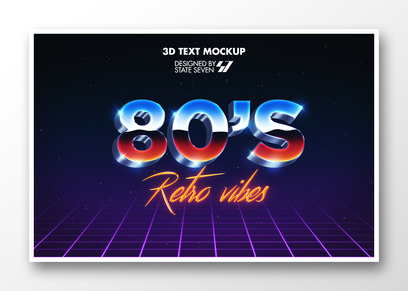 graphic design  text effect Text Mockup free mockup  3D text Free Template 3d text effect retro style 80s text effect neon text effect