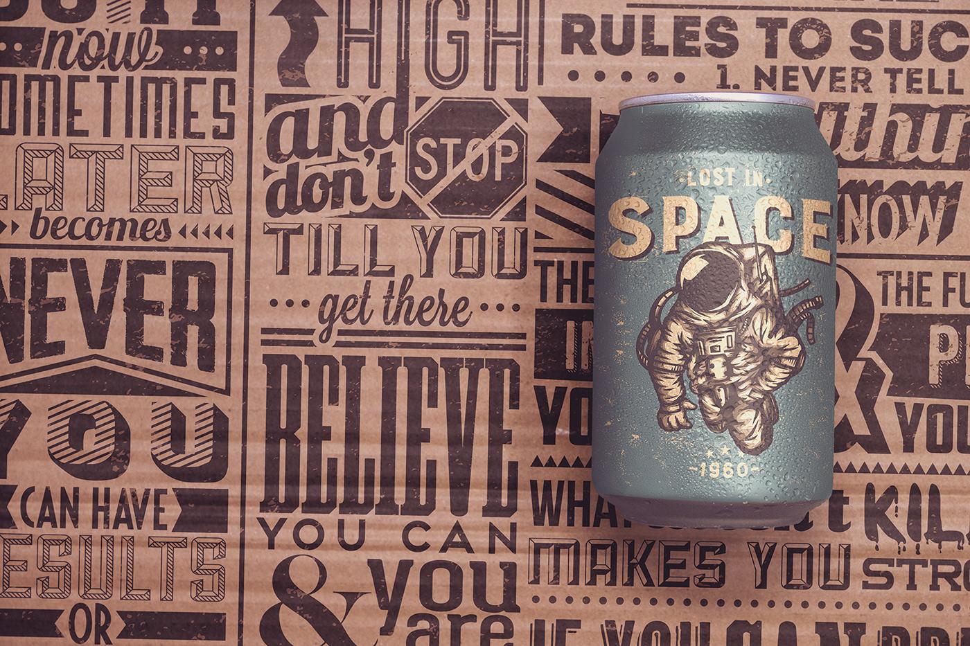 beer can craft edit logo Mockup paperboard photo psd soda