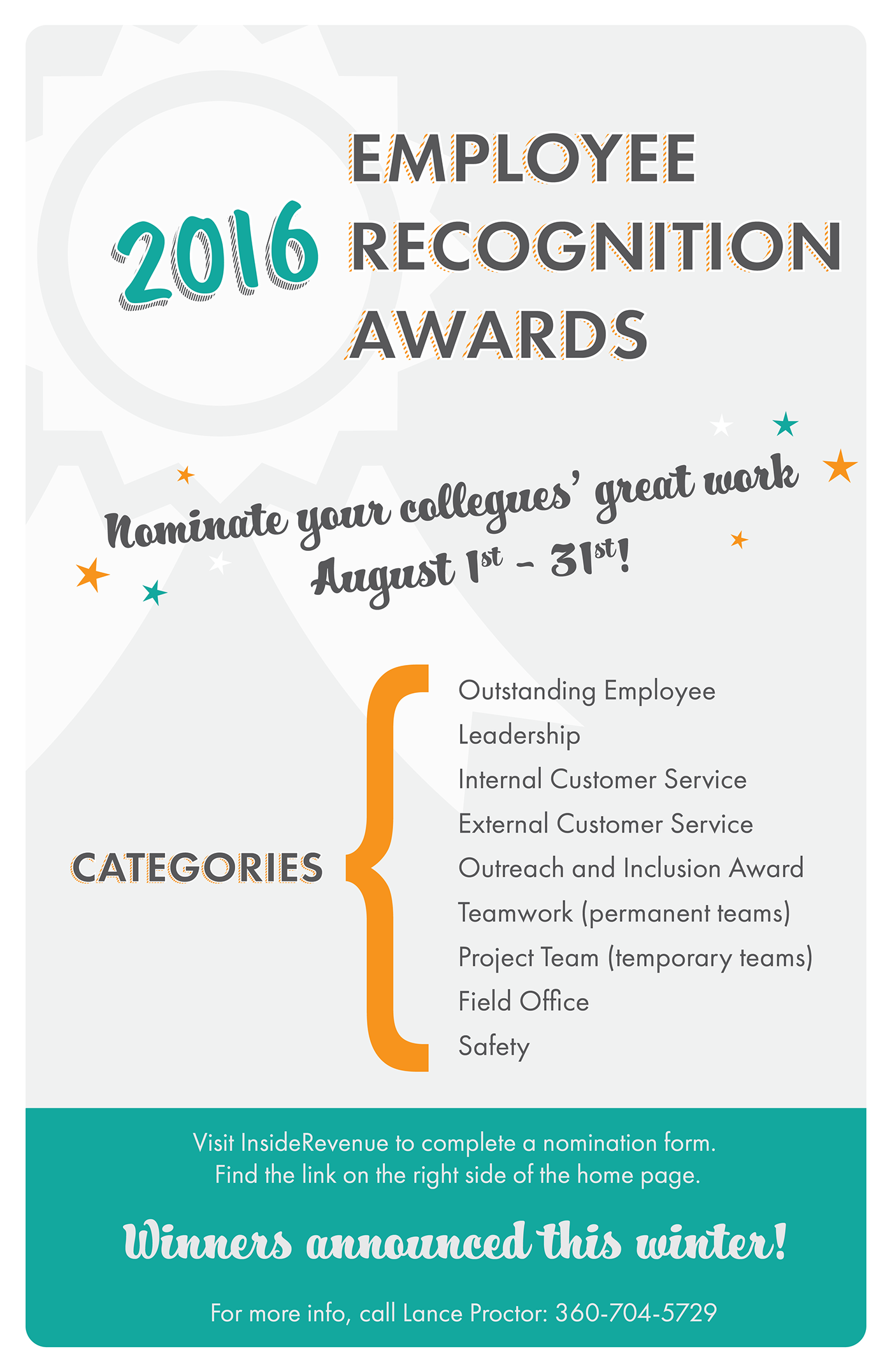employee recognition awards poster on behance