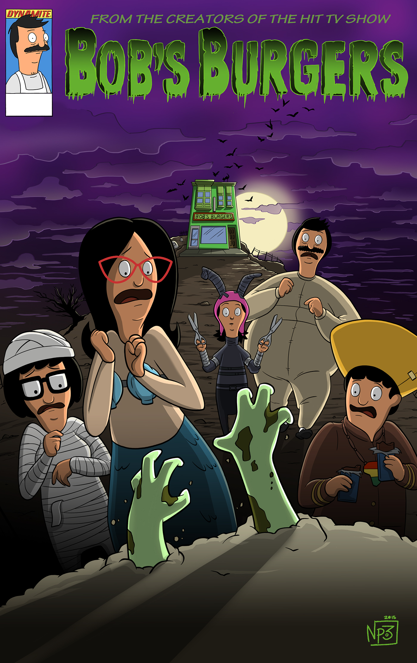 bobs burgers halloween comic variant cover by me on behance