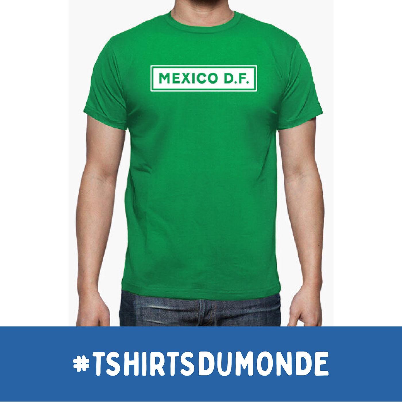 MEXICO D.F. / T-SHIRTS DU MONDE Collection, by Brassens Studio / ©Tomás Sastre