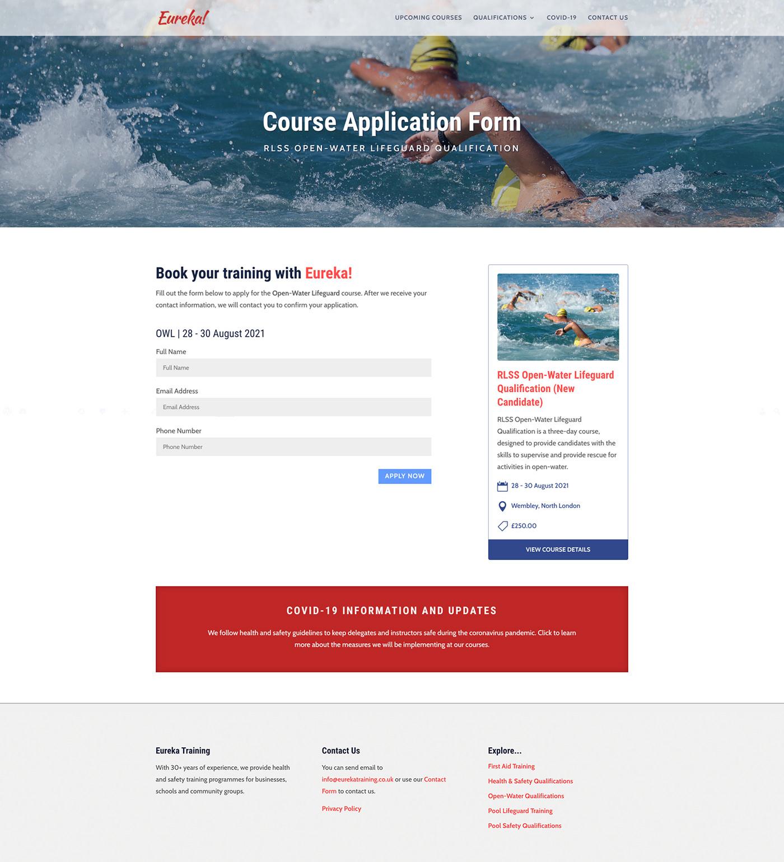 Course Application Form