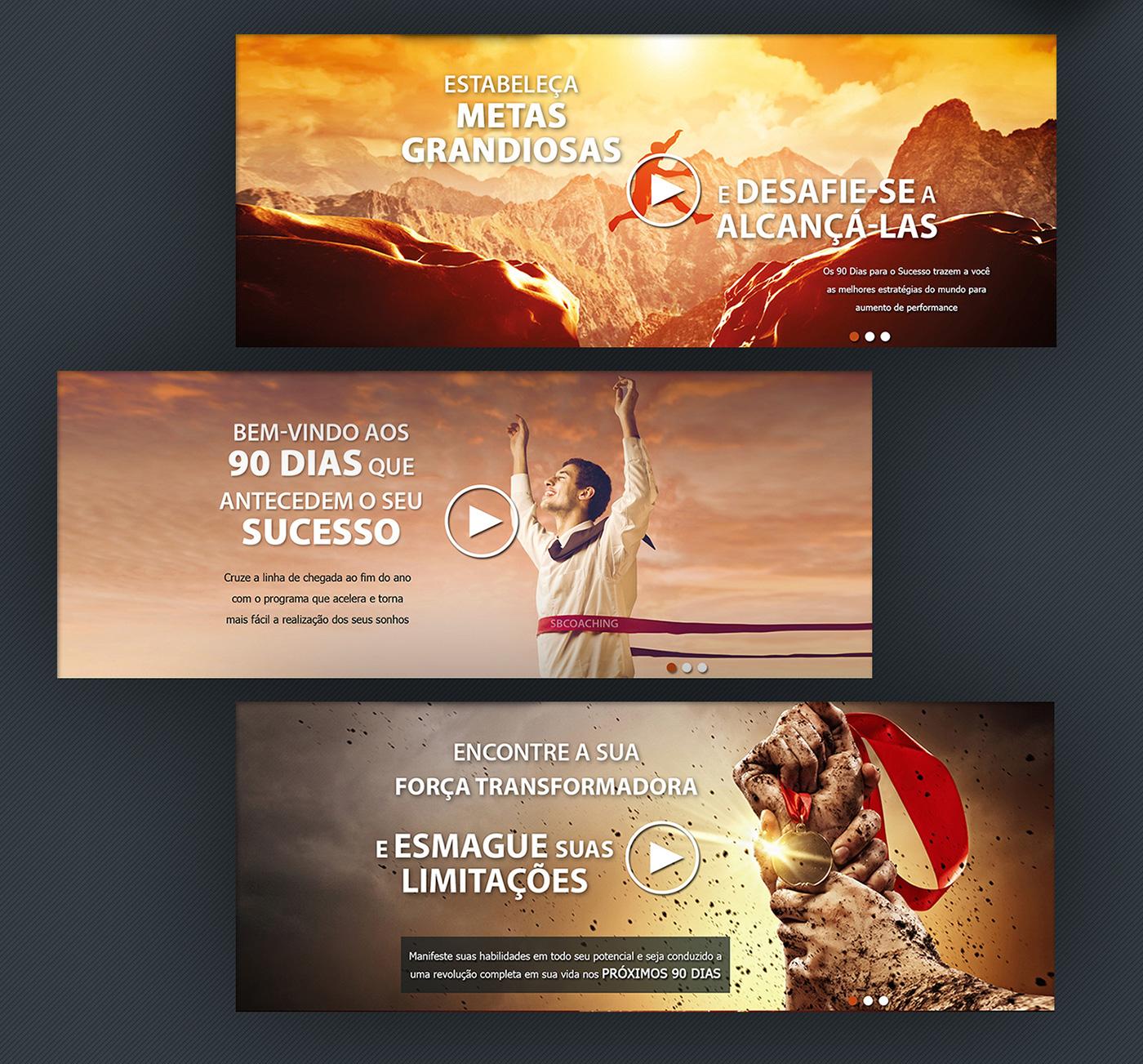 identidade visual site impresso coaching