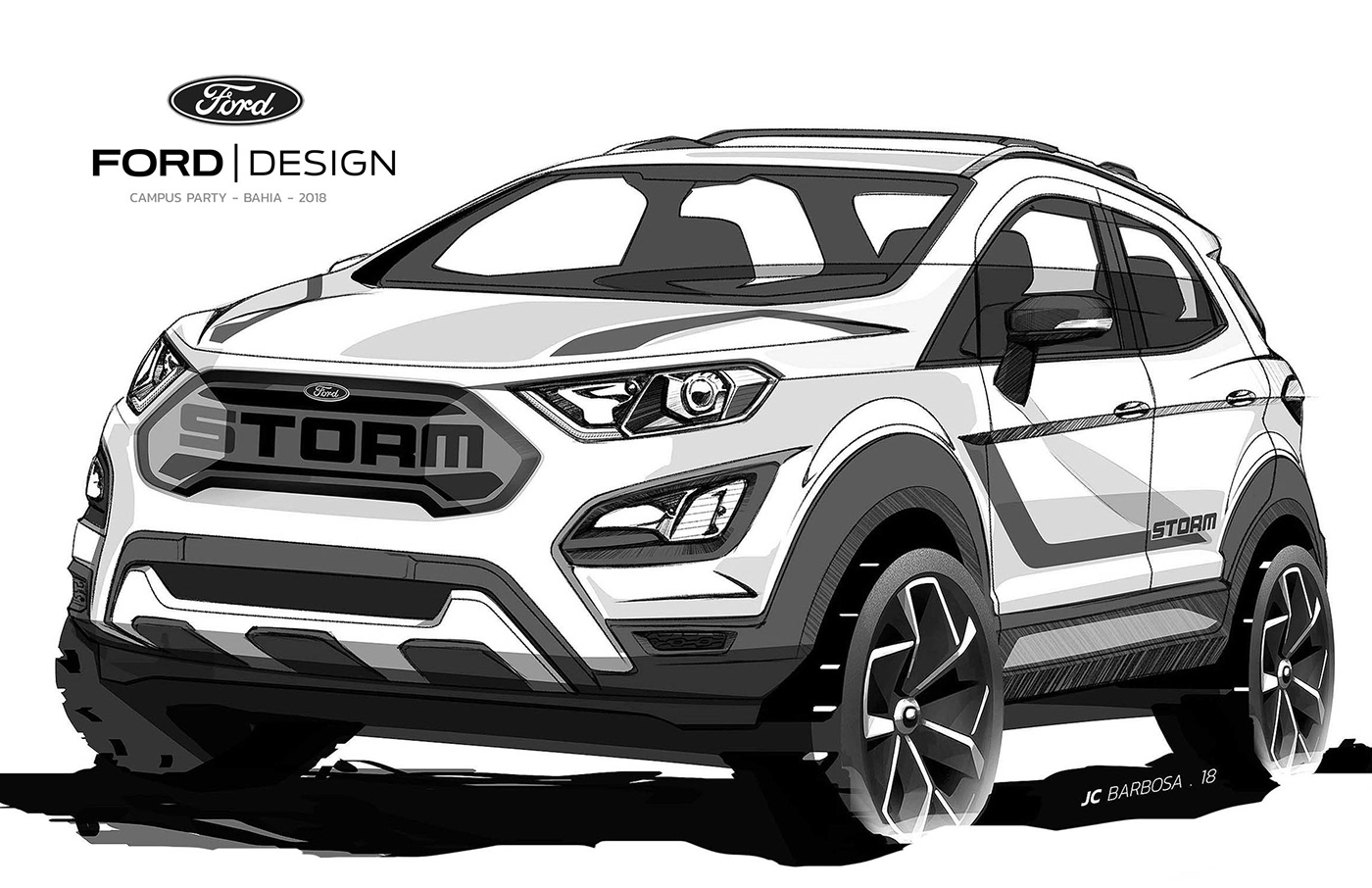 Ford Ecosport Storm On Behance