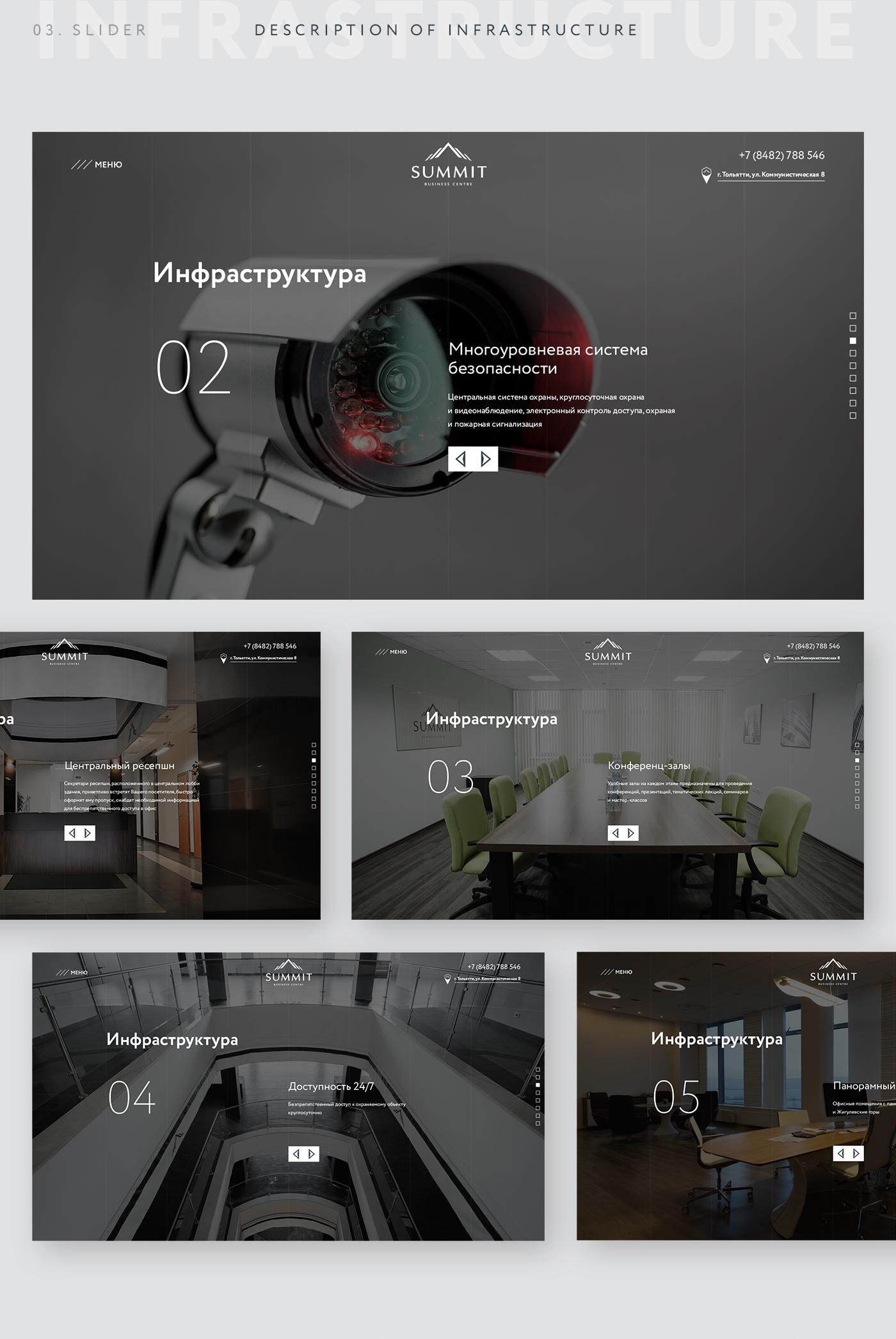 ui design Web Design  landing page business centre summit Website interactive