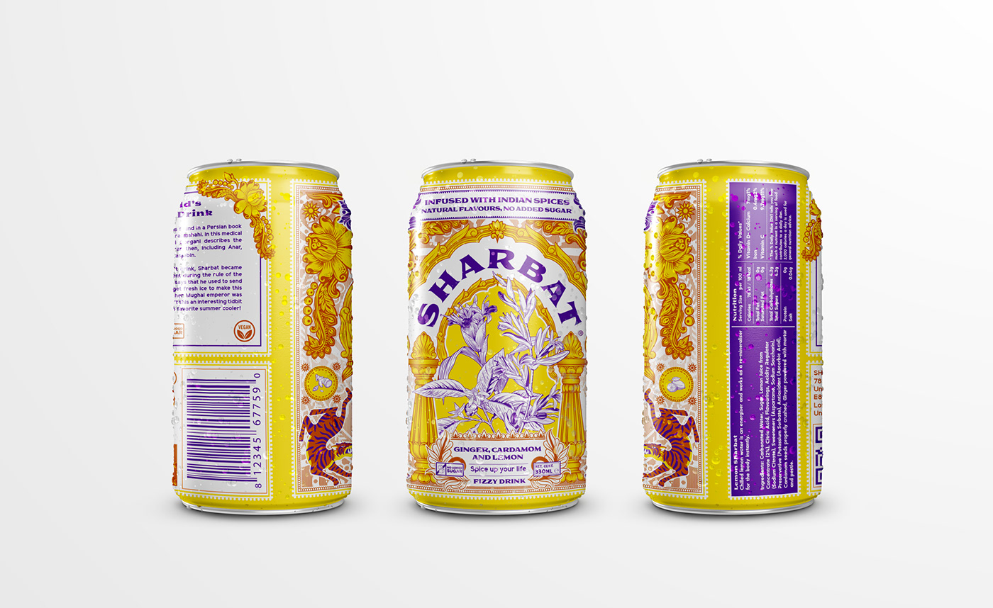 branding ,can,drink,Illustrator,Label,Packaging,vector,wacom,botanical