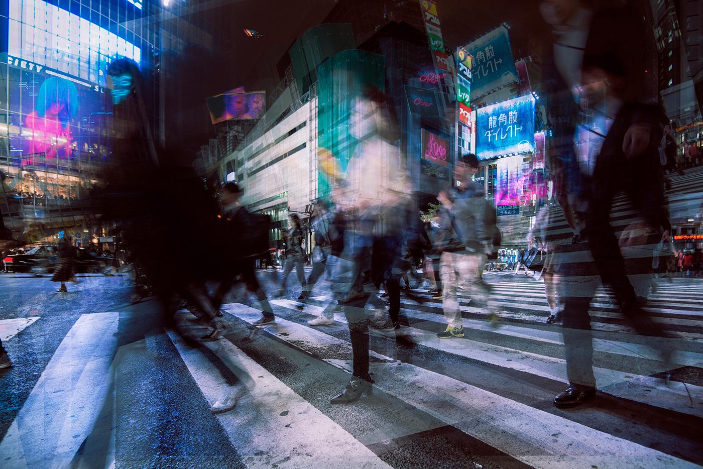 tokyio cinematic future crowd night